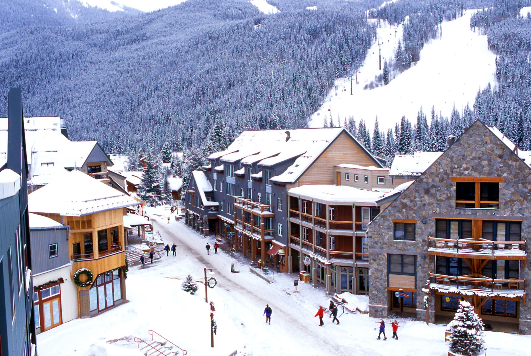 Winter in River Run Village at Keystone Resort