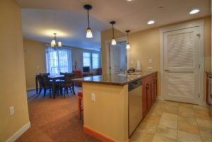 two bedroom gold kitchen living